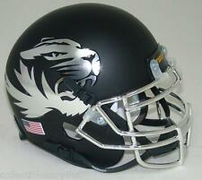 MISSOURI TIGERS ALTERNATE CHROME MATTE SCHUTT MINI FOOTBALL HELMET
