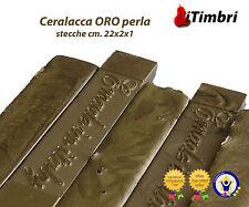 Ceralacca  Metalizzata 5 stecche  cm. 23x2x1 Extra fine colore ORO perla