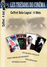4 DVD Bela Lugosi Plan 9 from outer space White Zombie Devil Bat Invisible Ghost