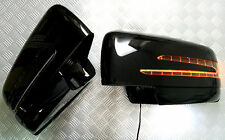 Fit Mercedes W204C/X204 GLK-Class 10~ON BLACK Arrow Type LED Side Mirror Cover