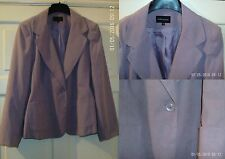 Evie collection Womens Business Suede Look Jacket Ladies Tailoring sz 16 18 NEW
