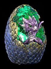 Drachen Figur mit LED - Geode Home - lila - Fantasy Drachenbaby Ei Dekostatue