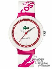 Lacoste Unisex Goa Pink and White Strap Watch