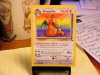Dragonite 19/62 Fossil Non Holo Rare Original Pokemon TCG Card - Excellent