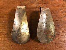 Vintage lot of (2) Dr. Scholl's Foot Comfort Happy Feet Shoe Horns (HD8)