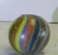 #12707m Colorful German Handmade Onionskin Lutz Marble .70 Inches