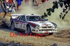 Henri Toivonen MARTINI LANCIA 037 Rally San Remo fotografia 1985