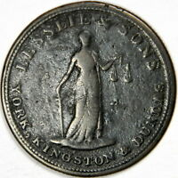 1828 CANADA 1/2 HALF PENNY - LESSLIE & SONS TOKENS - PRICED RIGHT!