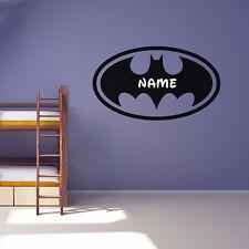 Wandtattoo Batman mit Wunschname Kinderzimmer Wandsticker