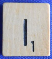 Scrabble Tiles Replacement Letter I Natural Wooden Craft Game Piece Part