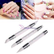 Fashion 3Pcs/set Nail Art Dotting Tools Rhinestone Silicone Carving Brushes Pens