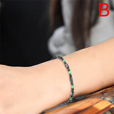 Magnetic Bracelet Bangle Bead Hematite Stone Health Care Women Jewelry JP
