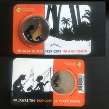 Belgie 5 euro 2019 Tintin Kuifje BU coincard €5 Belgique COLOR