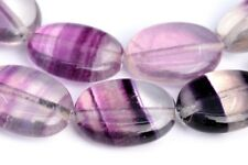 "14x10MM Rainbow Fluorite Flat Oval Grade AA+ Natural Gemstone Loose Beads 7.5"""