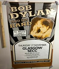 HUGE SUBWAY POSTER Bob Dylan And His Band Glasgow SECC In Show And Concert Folk