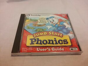 1999 JumpStart Phonics CD Rom Educational Software Computer Game, Ages 3-6