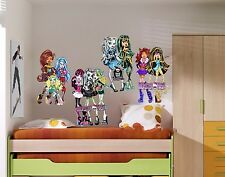 3 X MONSTER HIGH WALL ROOM DECOR DECAL STICKER BIRTHDAY GIFT