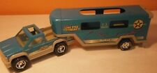Nylint-Pickup-Horse Trailer-Lone Star Stables-Pressed Steel & Plastic-Turguoise