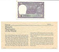 Great Historic Banknotes India 1 Rupee 1969 P 66  AUNC Prefix D/90