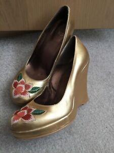 Kurt Geiger vintage platform shoes wedges size 5 38