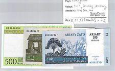 3 BILLETS MADAGASCAR - 500 F / 200 ARIARY / 100 ARIARY - ND(1994) / 2004 / 2004
