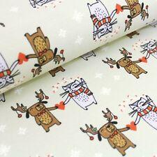 Bio Jersey  I give you my heart - aloe (Stoffonkel) Hund Katze Weihnachten Herz
