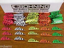 36- Bohning Blazer Tiger Vanes! CUSTOM MIXED BAG! archery arrow fletchings vane