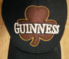 61a12dc946e Bio-Domes Headgear Guinness Hat Clover Leaf Logo Cap Embroidered Beer Luck  Black