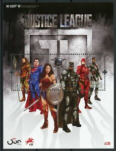 Portugal Superheroes Stamps 2020 MNH Justice League Superman Batman 1v M/S