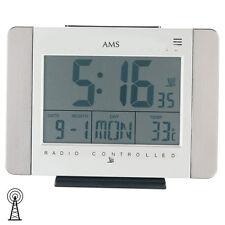 NEU AMS Digtal Tischuhr Uhr Schreibtischuhr Thermometer Wecker Büro Funkuhr