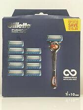 GILLETTE FUSION 5 PROGLIDE RAZOR BLADE FOR MEN FLEXBALL TECHNOLOGY + 10 BLADES