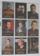 ST TNG - Legends of Star Trek - Geordie,Wesley,Tasha - 9 Cards Set