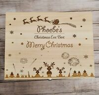 Wooden Christmas Eve Box Personalised To Order