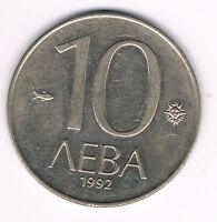 BULGARIEN  10 LEWA  1992