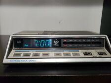 Vintage GE General Electric FM/AM DUAL Alarm Digital Clock Radio 7-4663A *SWEET*