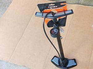 KWT Air Assault Floor Bike Pump 160 PSI Foot High Pressure Tyre Bicycle Ball