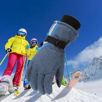 Winter Ski Gloves for Boys/Girls Kids Children Warm Snowboard Mittens Blue #ur