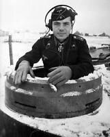 WWII B&W Photo German Tiger Commander Pzkpfw. VI World War Two   WW2 / 2154