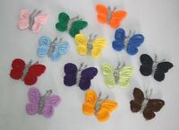 HANDMADE CROCHET butterfly  APPLIQUE