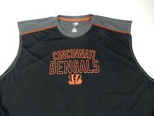 Mens NFL Team Apparel TX3 Cincinnati  Bengals Sleeveless Shirt Size 5XL