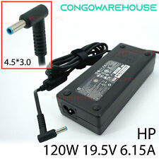 O120W 19.5V 6.15A DC:4.5*3.0 Genuine AC Adapter Charge for HP Envy 17 15 series