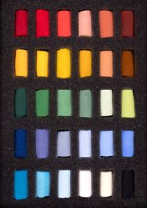 Unison Artist Quality Soft Pastels Starter Set of 30 Half Pastels