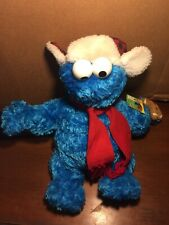 """2005 Gund Cookie Monster Plush With Hat And Scarf 18"""" Sesame Street"""