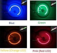 LOT OF 4 PCS NEW Firefly LED Light Tire Valve Stem Cap Wheel Cover Bicycle Blue