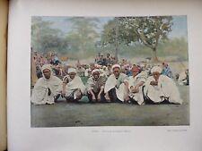 DAHOMEY:Gravure 19°in folio couleur/ GROUPE DE MUSULMANS A KETOU