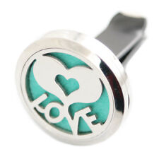 30mm 4 Style Stainless Car Air Vent Freshener Essential Oil Diffuser Locket Hot Love
