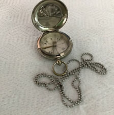 VINTAGE POCKET COMPASS SHORT & MASON London 32 W/chain Military?