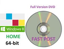 Windows 8.1 Home Edition 64-Bit + Bootable Installation DVD Full Version PRO 8