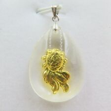 NEW Pure 999 Gold Golsfish Man-made Crystal Pendant