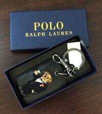 Polo Ralph Lauren Leather Martini Tuxedo Bear Keychain Key Ring Bottle Opener